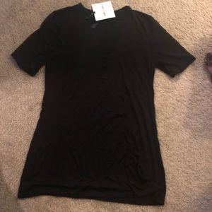 Agnes & Dora Black T-Shirt with Mesh